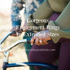 plus size engagement rings gorgeous engagement rings in extended sizes the pretty pear