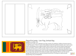 flag of sri lanka coloring page free printable coloring pages