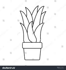 black silhouette corn plant flower pot stock vector 637534996