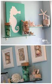 bathroom beach decor ideas diy beach inspired stained glass vase with a huge decoart