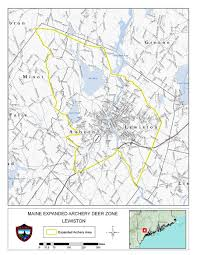 Map Of Maine Towns Lewiston Area Expanded Archery Season On Deer Hunting U0026 Trapping