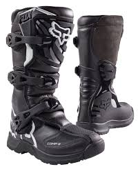 leather motocross boots fox racing youth comp 3 boots revzilla