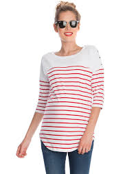 nursing top white striped cotton nursing top seraphine