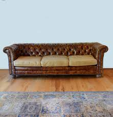 vintage leather chesterfield sofa ebth