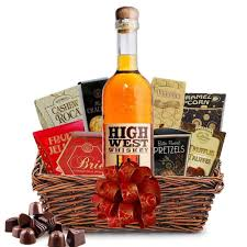whiskey gift basket buy high west rye whiskey gift baskets online whiskey gift