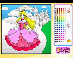 castle princess coloring game