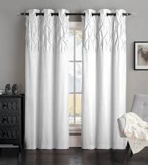 Living Room Curtains Overstock Amazon Com Avondale Manor Ella Panel Pair White Home U0026 Kitchen