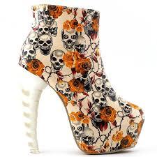show story cool zip high top bone high heel
