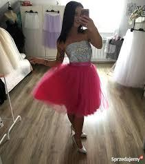 spodnica tiulowa spódnica tiulowa różowa fuksja spódniczka tiul midi witkowo