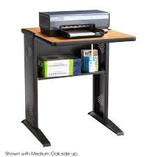 reversible top fax printer stand safco products