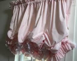 Ruffled Pink Curtains Pink Ruffle Curtain Etsy