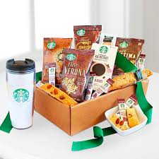 coffee baskets starbucks delivery gifts coffee gift baskets from ftd