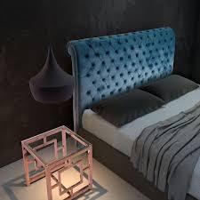 velvet tufted upholstered headboard