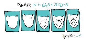 draw bear 5 easy steps imagethink imagethink