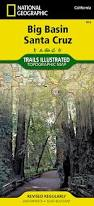 Henry Cowell State Park Map by Big Basin Santa Cruz National Geographic Trails Illustrated Map