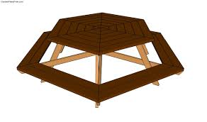 plans for picnic table octagon woodworking design furniture