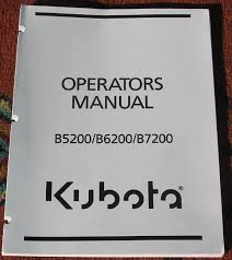 kubota parts service and operator u0027s manuals u2013 get them