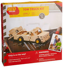 Build A Toy Box Car by Amazon Com Red Tool Box Tow Truck Building Kit Toys U0026 Games