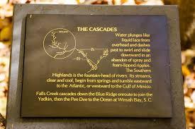 Interior Signs Trail Cascade Falls Wnc Waterfalls
