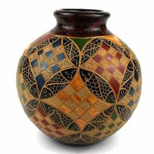 6 Inch Square Vase Beautiful Patterned 4 Inch Square Vase For Home Decoration And For