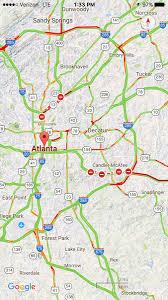 Atl Map Road Buckles On I 20 In Atlanta
