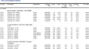 fleet report template unifleet fuel consumption report