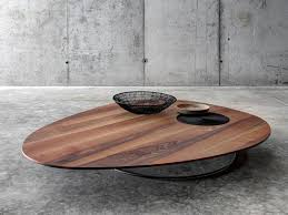Oval Wood Coffee Tables Low Wooden Coffee Table For Living Room Soglio By Fioroni Design