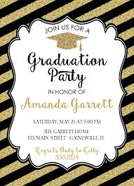 How To Make Graduation Invitations For Free Black And Gold Graduation Invitations Which Free To Download