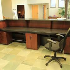 Custom Desk Ideas Handmade Custom Made Zodiac And Walnut Reception Desk By R J Hoppe