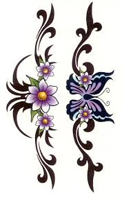 clipart library more like flower climb tribal tat design by 2face