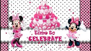 Minnie Invitation Card Minnie Mouse Theme Baby First Birthday Invitation Youtube