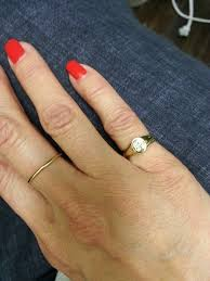 signet wedding ring mini signet ring with monogram nan jewelry