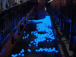 floating led spheres spotted