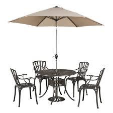 Floral Print Patio Umbrellas by Home Styles Largo 7 Piece Outdoor Patio Dining Set With Umbrella