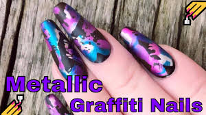 kirsty u0027s metallic graffiti nails as requested youtube