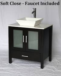Espresso Bathroom Vanity 30 Inch Espresso Bathroom Vanity White Square Porcelain Vessel