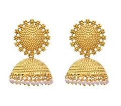 fancy jhumka earrings buy royal bling trendy stylish fancy party wear golden pearl