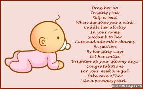 baby girl poems new baby girl greeting card messages congratulations for ba girl