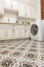 ethnic patterned ceramic vinyl tile flooring for kitchens artenzo