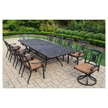 victoria 11 piece aluminum patio dining set target