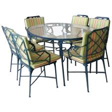 Bamboo Dining Room Furniture by 9 Pc Brown Jordan Calcutta Patio Set Dining Table Arm Chairs End