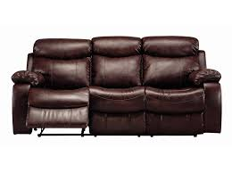 Brown Bonded Leather Sofa Denisa Rich Brown Reclining Leather Sofa Sofas