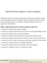 Electrical Maintenance Engineer Resume Samples Sample Resume Electrical Engineer U2013 Topshoppingnetwork Com