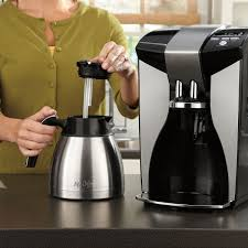Coffee Maker With Grinder And Thermal Carafe Mr Coffee Optimal Brew 12 Cup Programmable Coffee Maker With