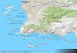marseilles map marseille carte des calanques marseille