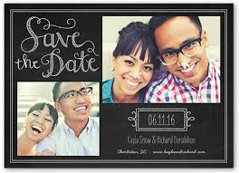 chalkboard 5x7 announcement card save the date cards