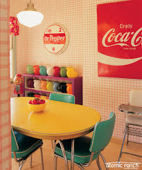 retro dining room furniture turn your dining room into a colorful retro diner