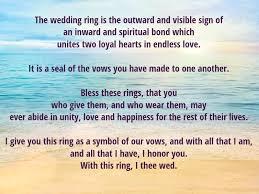 wedding ring meaning meaning of a wedding ring wedding ring exchange scripts me