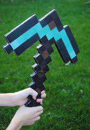 Minecraft Costume Halloween Diy Minecraft Pickaxe Diy Cardboard Diy Crafts Diy Cardboard