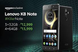 amazon lenovo black friday lenovo k8 note sale today 1st september sharp at 12 noon on